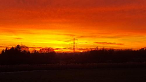 Herrlicher Sonnenuntergang im Naturschutzgebiet